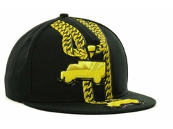 Lil' Wayne 2 Trucks Flat Brim Snapback Hat by Trukfit in Get Hard