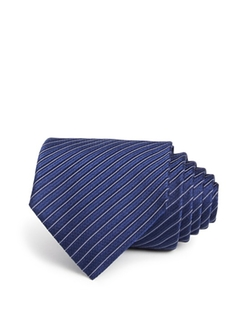 Stripe Jacquard Silk Classic Tie by Armani Collezioni in Scandal