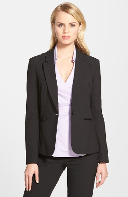 One-Button Suit Jacket by Halogen in Safe House