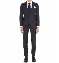 Slim Fit Extra Fine Wool Suit by Manuel Ritz in New Girl