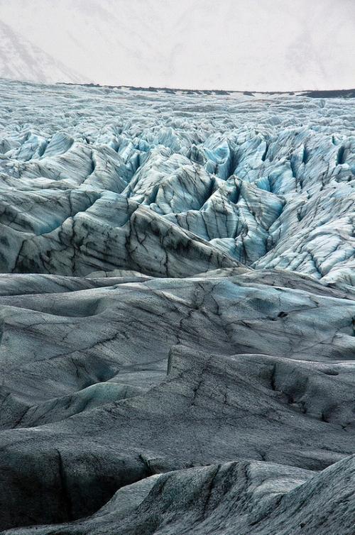 Svínafellsjökull Glacier (depicted as Dr. Mann's Planet) Iceland in Interstellar