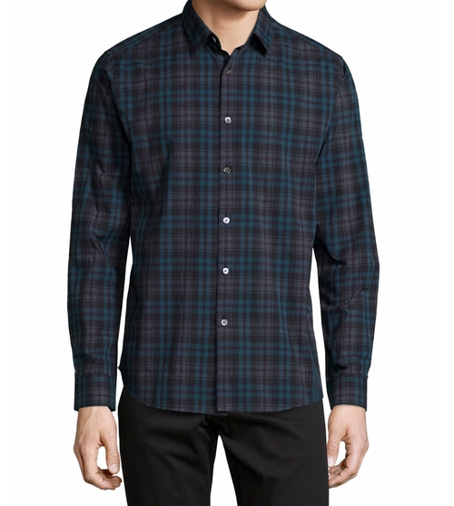 Zack Plaid Long-Sleeve Shirt by Theory in Jack Reacher