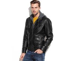 Hooded Faux-Leather Jacket by Buffalo David Bitton in John Wick