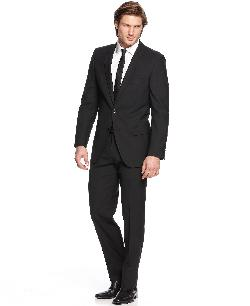 Suit Black Solid Extra Slim Fit by Hugo Boss in Captain America: The Winter Soldier