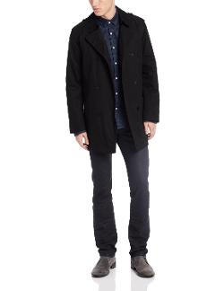 Men's Rance Double-Breasted Rain Peacoat by Kenneth Cole in What If