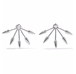 Five Spike Earrings by Pamela Love in Billions