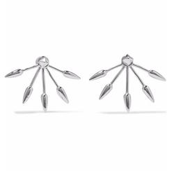 Five Spike Earrings by Pamela Love in Billions