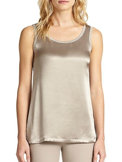 Silk Contrast Tank Top by Peserico in The Boy