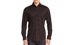 Baylor Textured Button-Down Shirt by Robert Graham in Suits