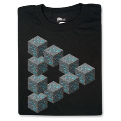 Minecraft Diamond In the Rough Tee by Think Geek in The Big Bang Theory