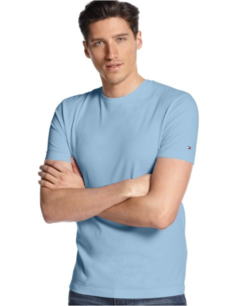 Core Beach Crew Neck T-Shirt by Tommy Hilfiger in McFarland, USA