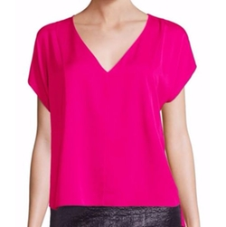 Stretch-Silk V-Neck Dolman Sleeve Top by Milly in Scream Queens
