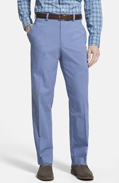 Standard Fit Cotton Poplin Trousers by Bills Khakis in The Man from U.N.C.L.E.