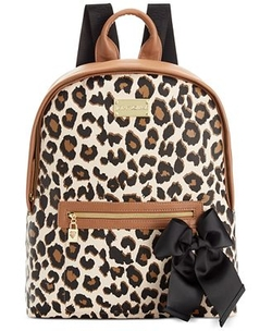 Macy's Exclusive Leopard Backpack by Betsey Johnson in Black-ish
