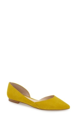 Sunny Half D'orsay Flat Shoes by Marc Fisher Ltd in New Girl