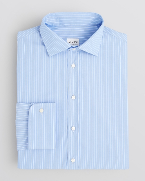 Pencil Stripe Dress Shirt by Armani Collezioni in Unfinished Business