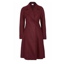 Flared Double Breasted Wool Felt Coat by Harris Wharf London in Billions