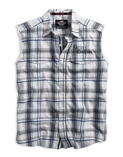 Tribal Flames Plaid Sleeveless Shirt by Harley-Davidson in Fast Five