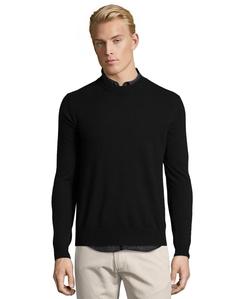 Cashmere Knit Crewneck Sweater by Harrison in Daredevil
