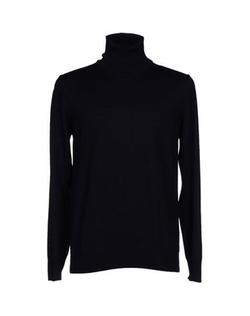 Turtleneck Lightweight Sweater by Andrea Fenzi in Black Mass