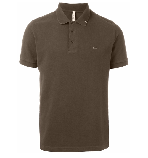 Embroidered Logo Polo Shirt by Sun 68 in The Infiltrator