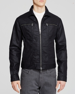 Denim Zipper Jacket by John Varvatos Star USA in The Vampire Diaries