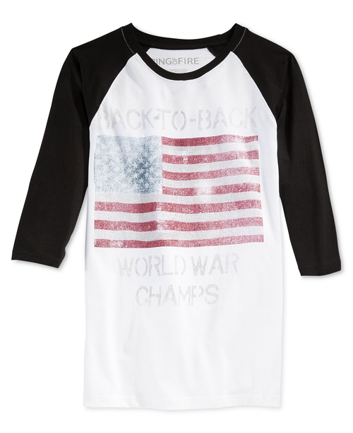 Graphic-Print Raglan-Sleeve T-Shirtt by Ring Of Fire in Nashville - Season 4 Episode 8