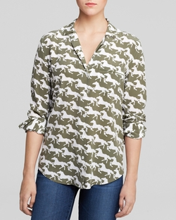 Trail Print Blouse by Equipment in Pretty Little Liars