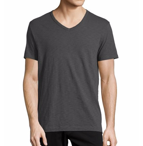 Slub Jersey V-Neck T-Shirt by Vince in Rosewood - Season 2 Episode 2