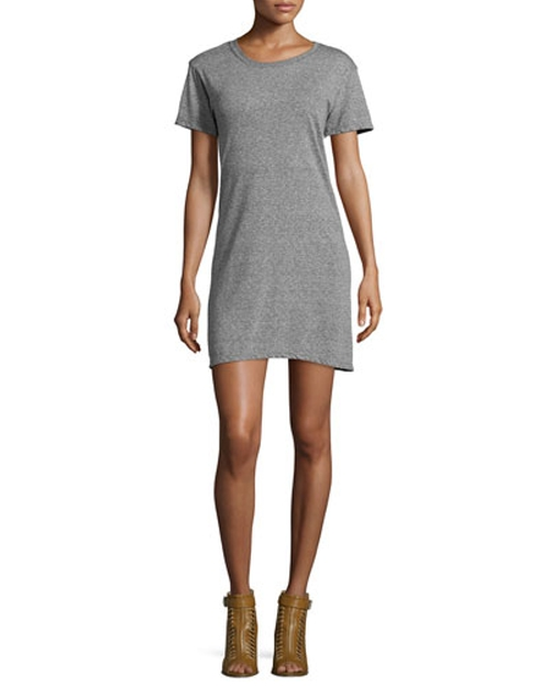 Short-Sleeve Knit T-Shirt Dress by Current/Elliott in The Mindy Project - Season 4 Episode 5