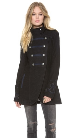 Military Pea Coat by Free People in Pretty Little Liars