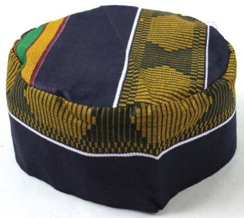 Kente Pattern Kufi Kofi Hat Cap by African Inspired Fashions in Blended