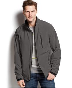 Full-Zip Softshell Jacket by Calvin Klein in The Walk
