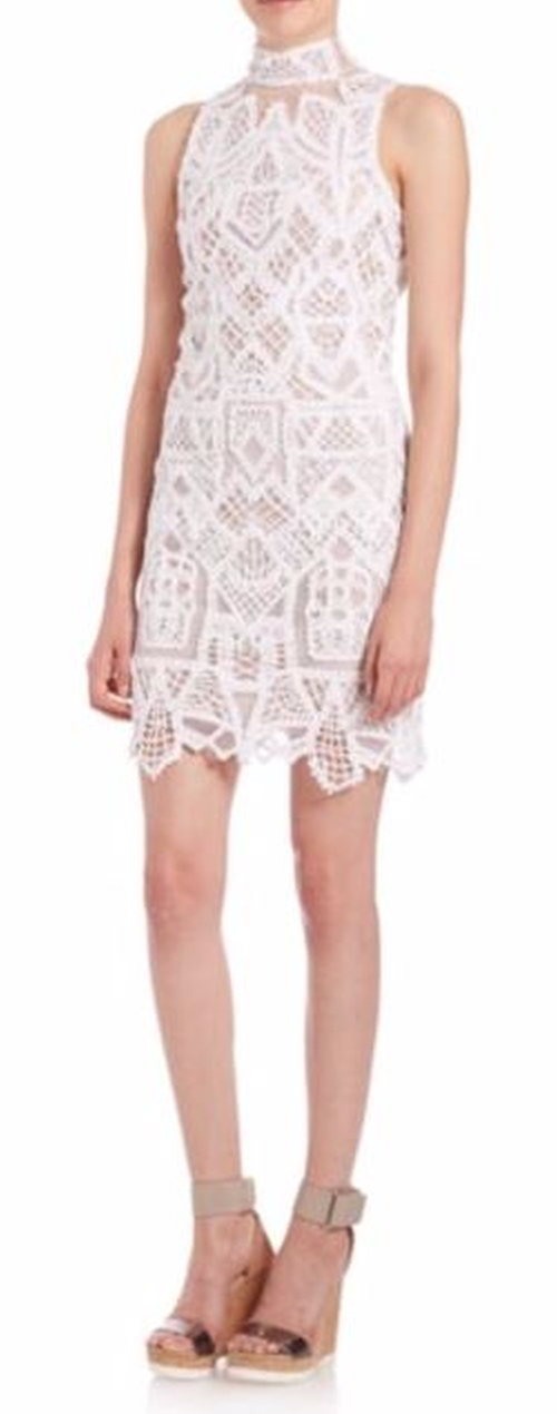 Tower Lace Dress by Jonathan Simkhai in Keeping Up With The Kardashians - Season 12 Episode 12