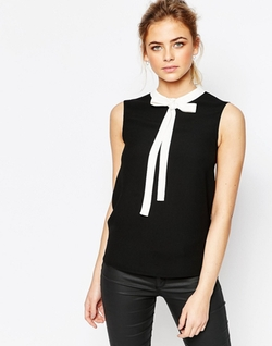 Bow Tie Crepe Top by Ted Baker in The Great Indoors