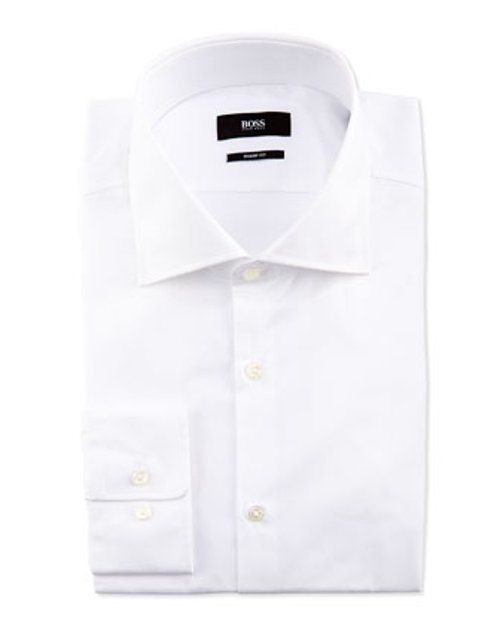 Sharp-Fit Poplin Dress Shirt by Hugo Boss in Her