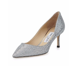 Romy Glitter Pointed-Toe Pumps by Jimmy Choo in Suits