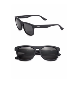 Matte Wayfarer Sunglasses by Salvatore Ferragamo  in Flaked
