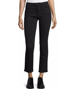 Le High Straight-Leg Cropped Jeans by Frame in Speechless