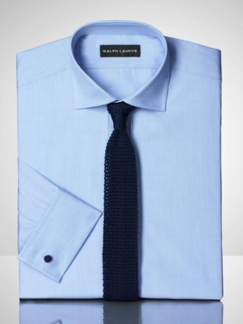 Solid Broadcloth French Shirt by Ralph Lauren in Savages