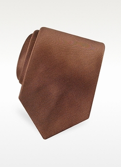 Solid Pure Silk Satin Silk Tie by Forzieri in Master of None