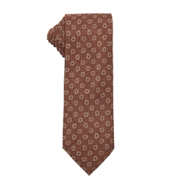 Brown Paisley Print Silk Tie by Ermenegildo Zegna in The Blacklist