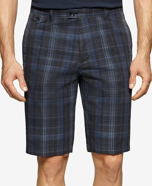 Men's Plaid Shorts by Calvin Klein in Flaked