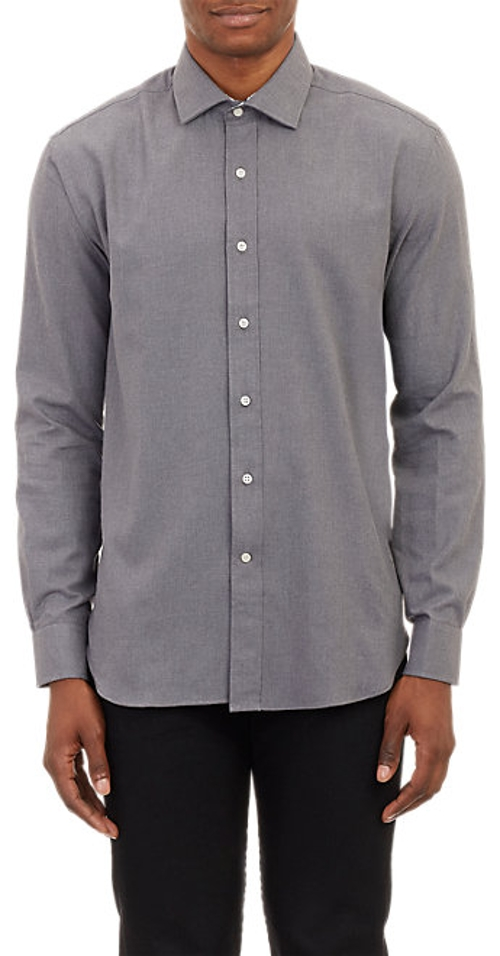 Brushed Twill Shirt by Barneys New York in Boyhood