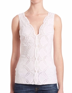 Sunnyoroft Scalloped Lace Top by Bailey 44 in Billions