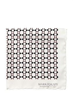 Printed Silk Twill Pocket Square by Mark Giusti in Now You See Me 2