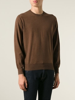 Crew Neck Sweater by Brunello Cucinelli in Trainwreck