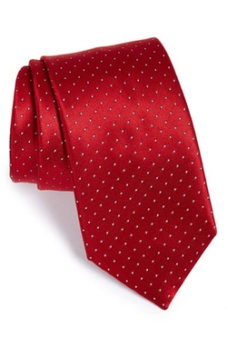 Polka Dot Silk Tie by Brioni in The Good Wife