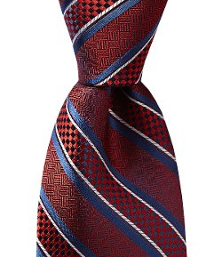 Bump Stripe Silk Necktie by Daniel Cremieux in A Most Violent Year