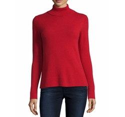 Modern Cashmere Turtleneck Sweater by Neiman Marcus Cashmere Collection in Wonder Woman